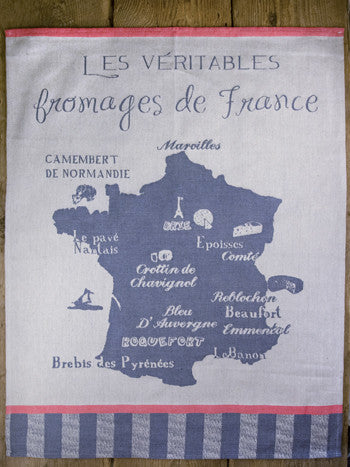 "Moutet ""Les Fromages de France"" Tea Towel"