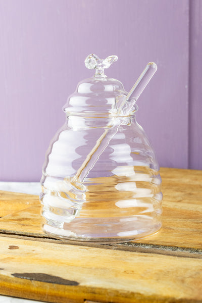 Glass Honey Jar with Glass Dipper