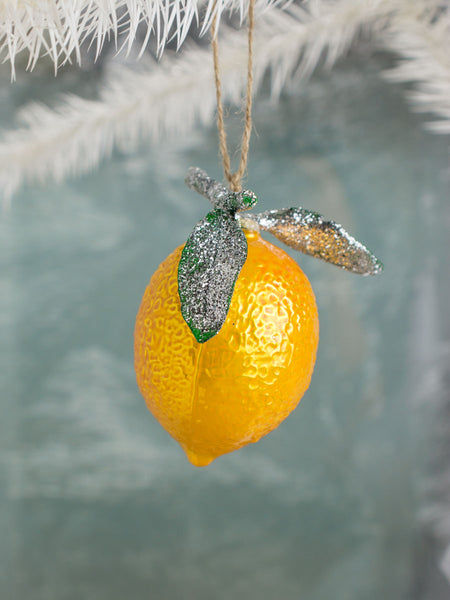 Glass Lemon Ornament