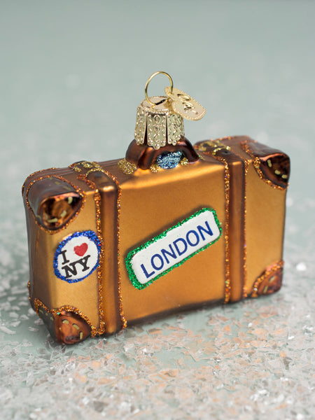 Worldly Glass Glitter Suitcase