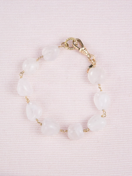 Golden Pink Quartz Bracelet