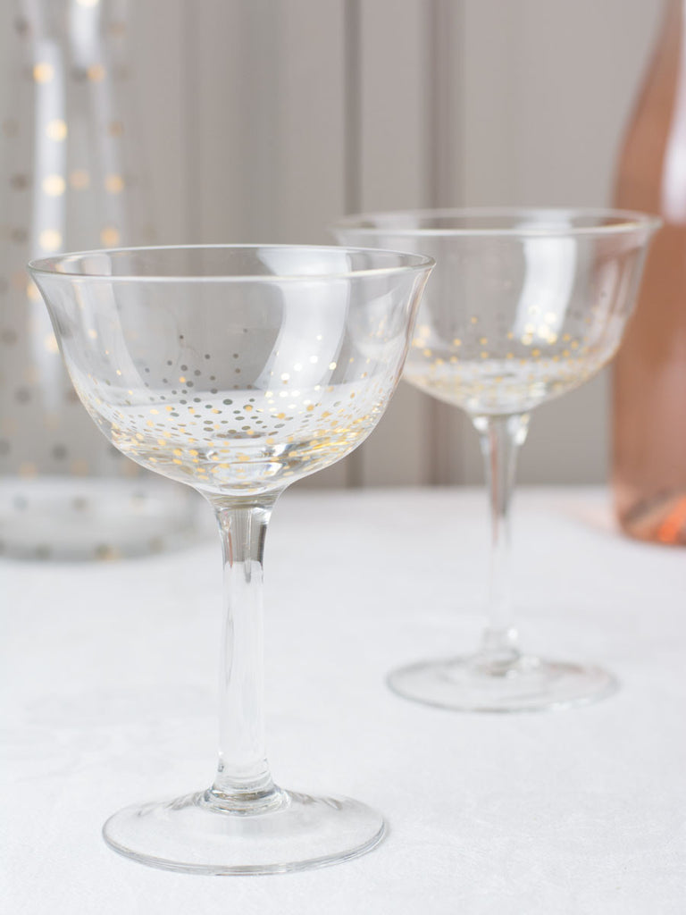 Golden Flare Champagne Coupes Set Of 2 P O S H