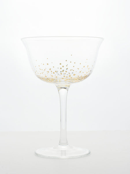 Golden Flare Champagne Coupes - Set of 2