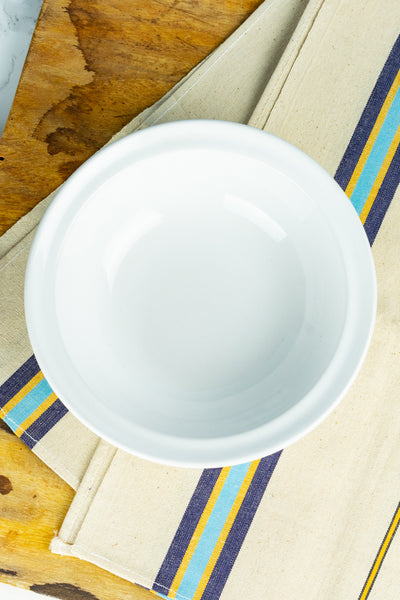 Hall China Ribbed White Bowl