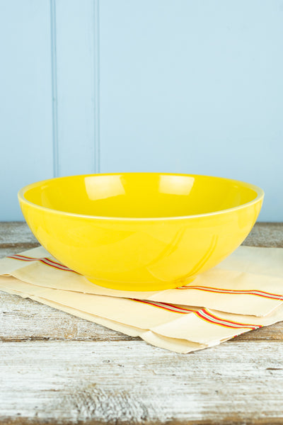 Hall China Sunflower Yellow Serving Bowl