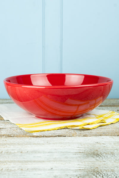 Hall China Scarlet Red Serving Bowl