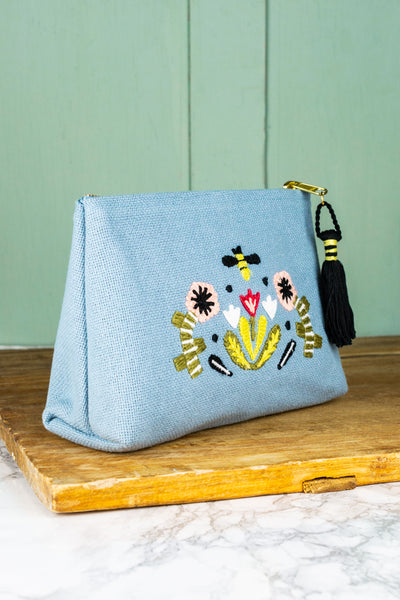 Honeybee Embroidered Pouch