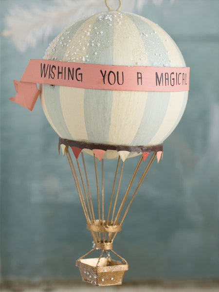 Magical Holiday Hot Air Balloon Ornament