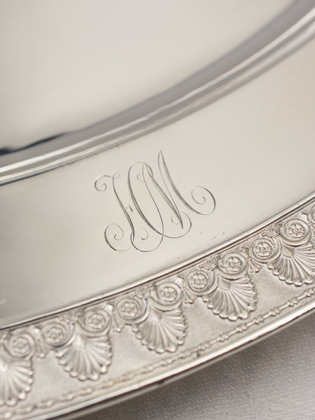 Antique New York Hotel Metropole Silverplate Tray