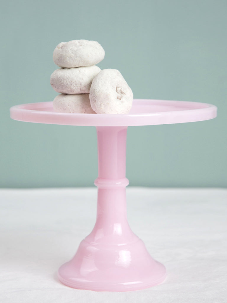 Pink Milk Glass Cake Stand 10 P O S H