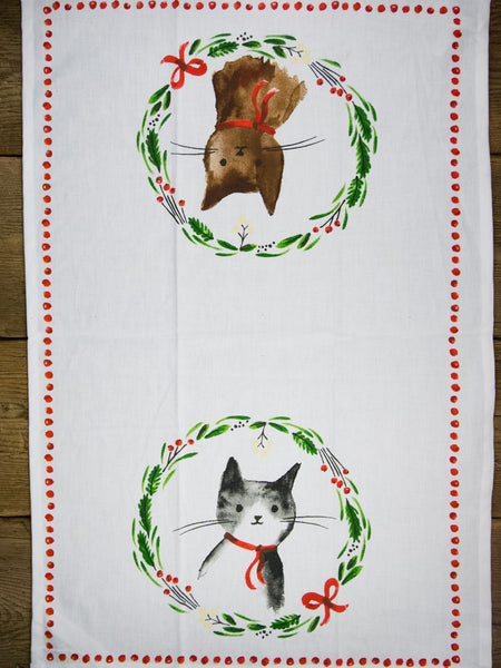 Jingle Kitty Tea Towel