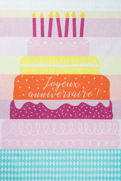 Moutet Happy Birthday Tea Towel
