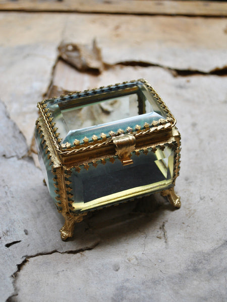 Small Beveled Glass Jewelry Boxes