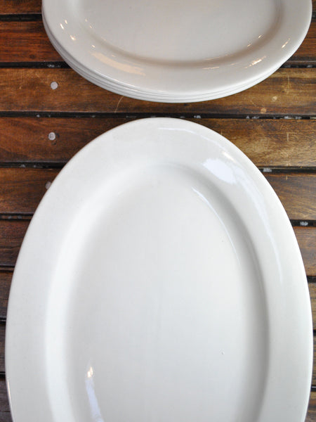 "Basic Restaurant China 15 1/2"" Oval Platter"