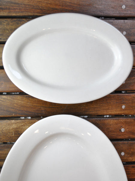 "Basic Restaurant China 9 1/2"" Oval Platter"