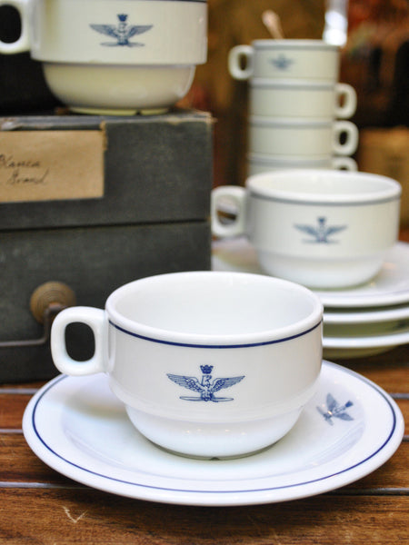 Vintage Italian Air Force Coffee Cup & Saucer
