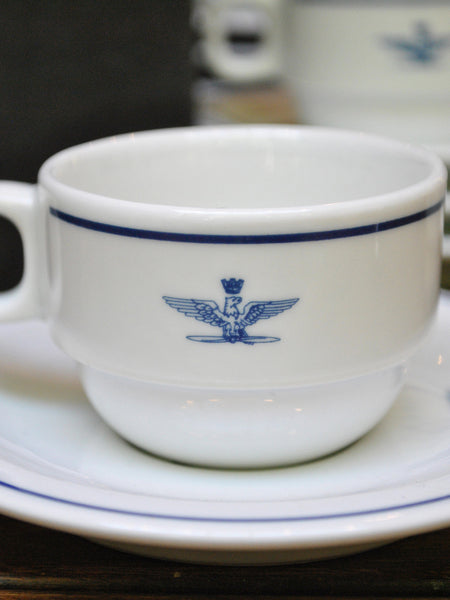 Vintage Italian Air Force Demitasse Cup & Saucer