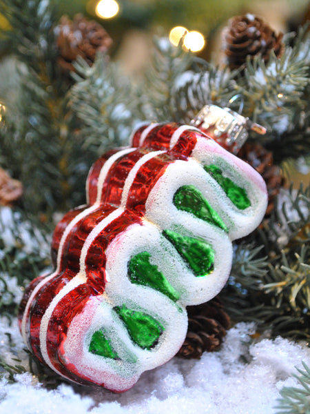 Ribbon Candy Ornament - Set of 2
