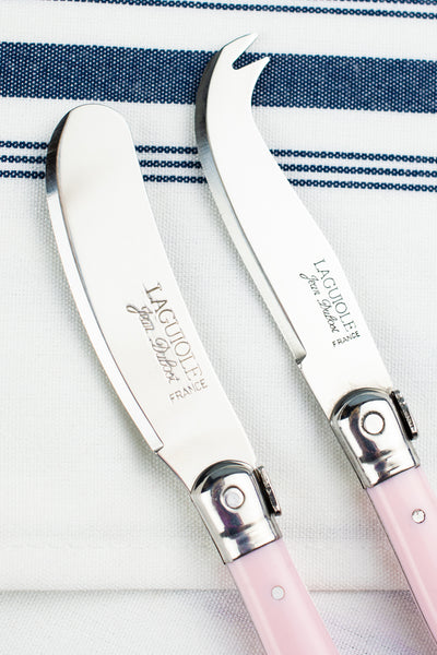 Laguiole Pastel Cheese Knife & Spreader Set