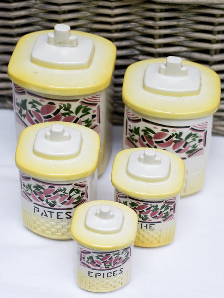 Vintage 5-piece French Canister Set