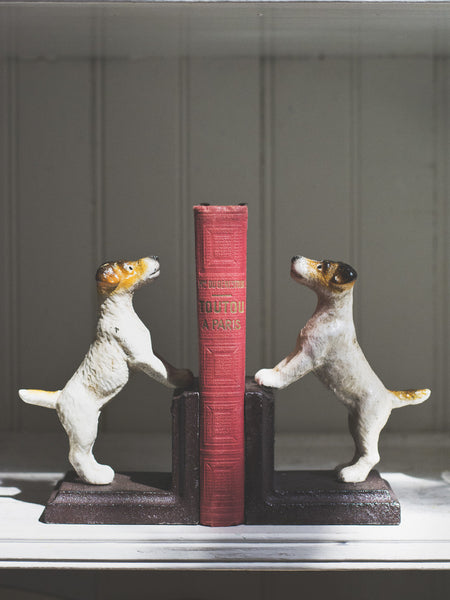 Jack Russell Cast Iron Book Ends