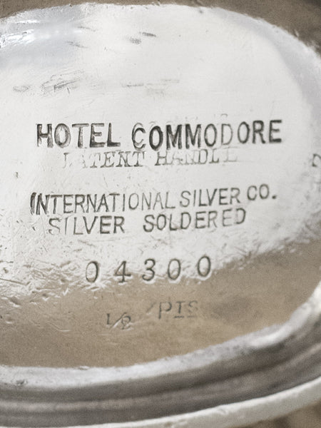 Vintage Silverplate Hotel Commodore Coffeepot