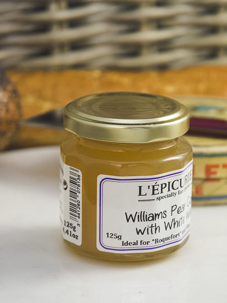 French Williams Pear Confit with White Wine