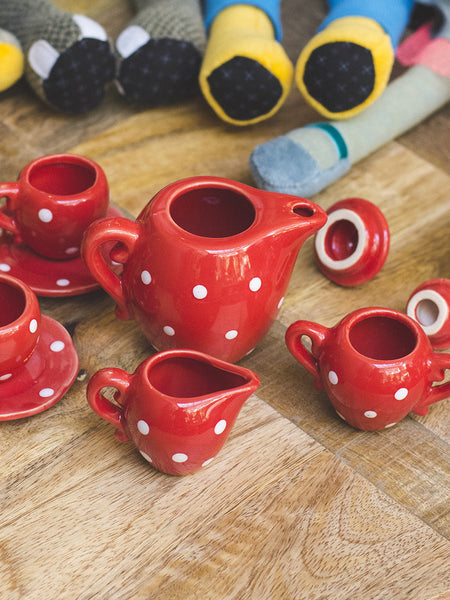 French Ceramic Tea Set