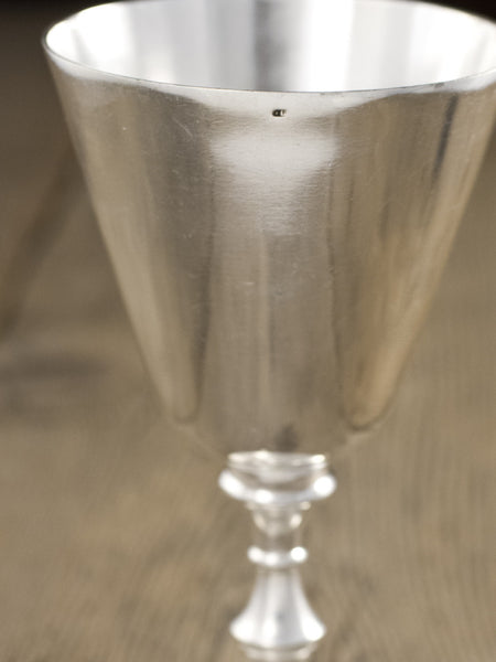 Antique Silverplate French Goblet