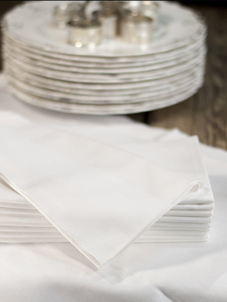 Satin Band Hotel Napkins - Set of 6