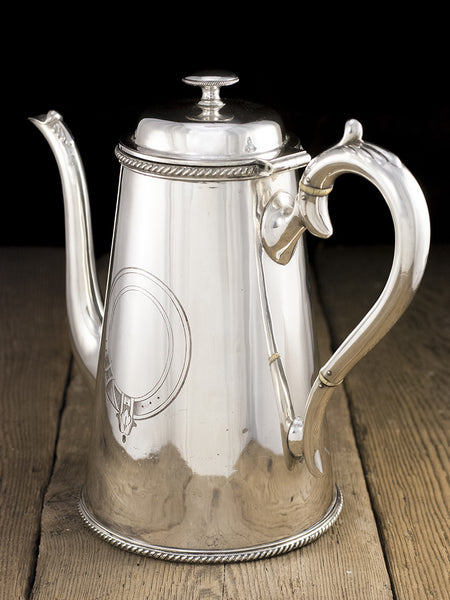 Antique Silverplate SS Highland Chief Coffee Pot