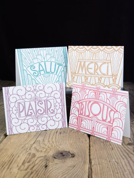 Louise Fili French Notecards and Envelopes