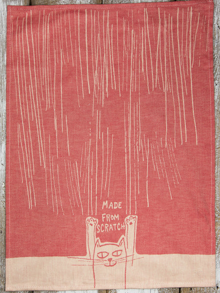 Made From Scratch Cat Dishtowel