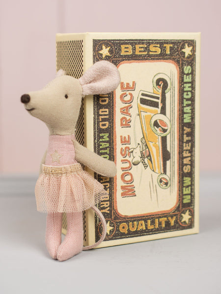 Little Sister Mouse in Match Box