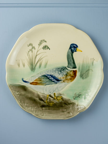 Antique Majolica Duck Plate