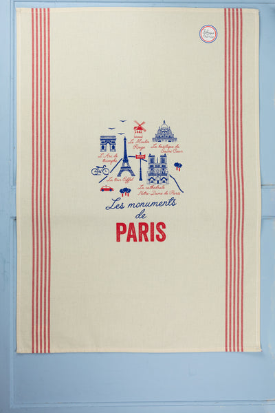 Monuments of Paris Tea Towel