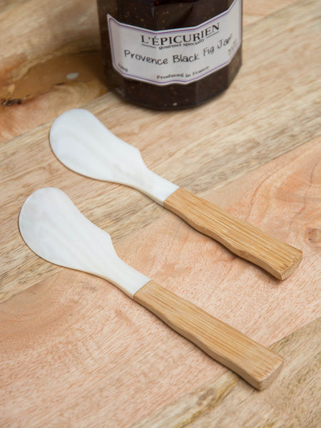 Mother of Pearl & Wood Spreader - Set of 2