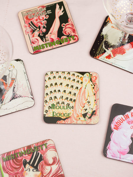 Moulin Rouge Coasters - Set of 6