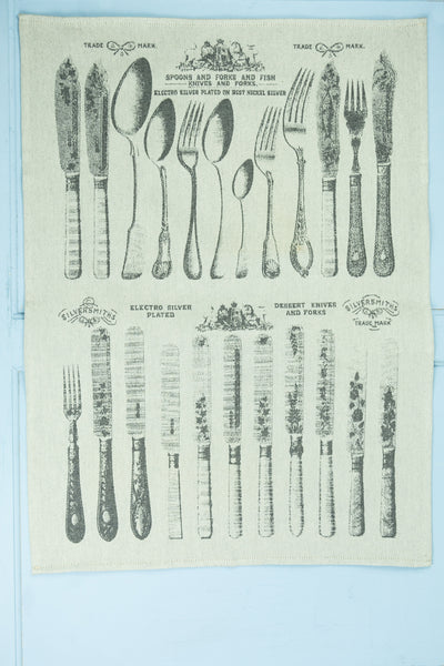 Moutet Victorian Cutlery Tea Towel