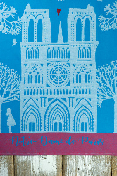 Moutet Notre Dame Tea Towel