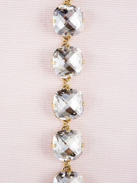 Cushion Cut Crystal Bracelet