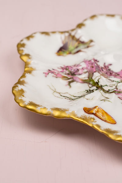Antique French Oyster Plate