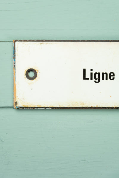 "Vintage French Train Sign - ""P.N. no 111 Ligne de Bordeaux St. Louis à Pointe De Grave"""