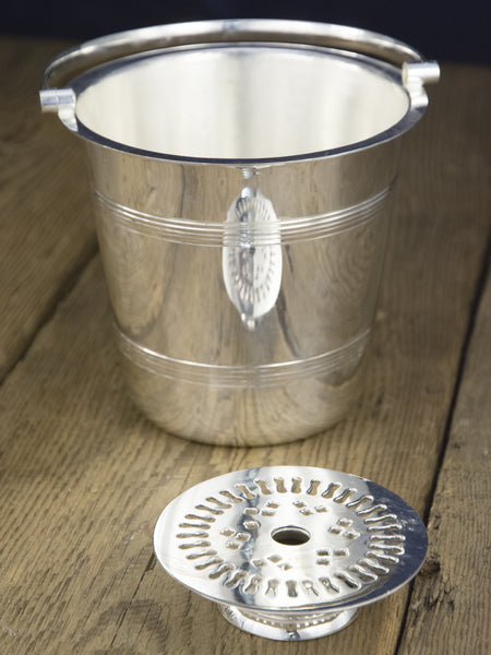 Vintage Silverplate Swing Handle Ice Bucket