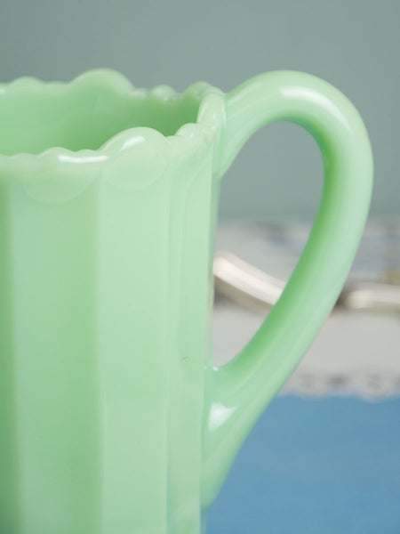 Jadeite Panel Pitcher