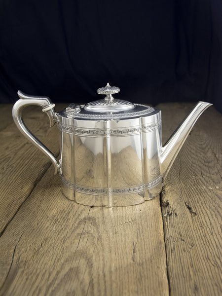 Antique Silverplate Victorian Teapot