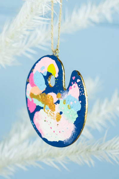 Painter's Palette Ornament - Blue