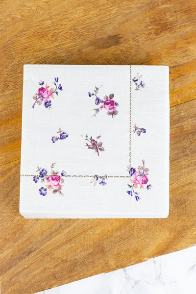 Floral Paper Beverage Napkins - Pack of 20