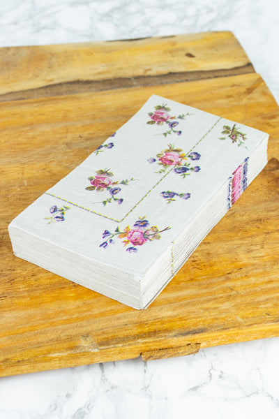 Floral Paper Dinner Napkins - Pack of 20