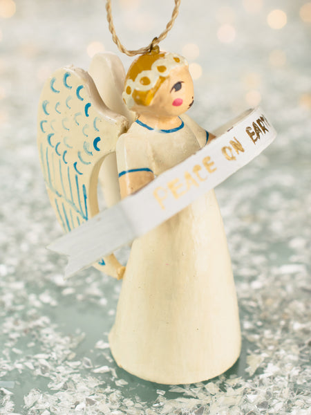 Peace On Earth Angel Ornament